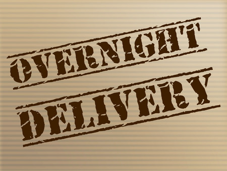 Overnight Delivery Meaning Parcel Shipping And Express photo