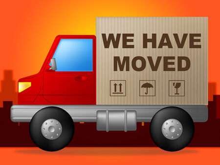 We Have Moved Meaning Moving House And Trucking photo