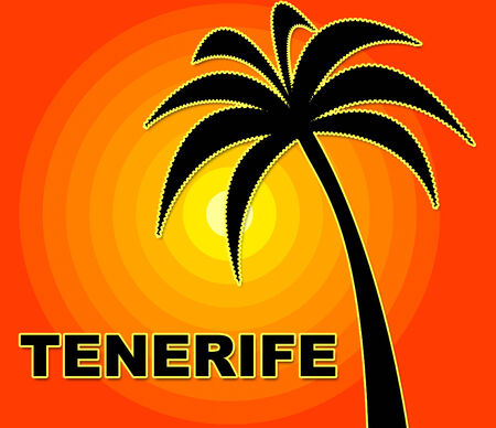time off: Tenerife Holiday Showing Go On Leave And Time Off Stock Photo