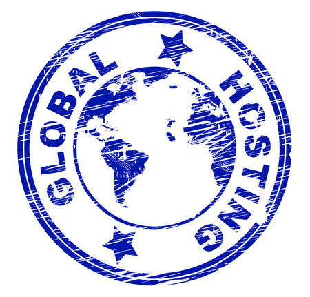 webhosting: Global Hosting Meaning Computer Earth And Www