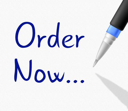 booked: Order Now Indicating At The Moment And Book