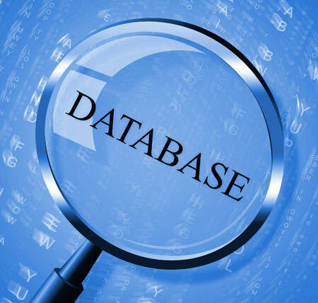 dataflow: Database Magnifier Indicating Info Information And Byte