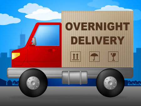 overnight: Overnight Delivery Meaning Postage Parcel And Delivering