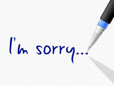 Im Sorry Meaning Communicate Message And Send