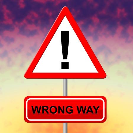 no entrance: Wrong Way Mostrando Sin Entrada Y Alternativa Foto de archivo