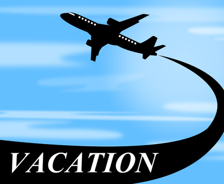 time off: Vacation Flights Representing Time Off And Aviation