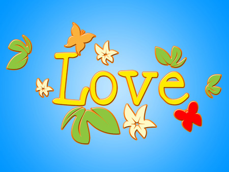 compassionate: Love Flowers Showing Bloom Petal And Compassionate Stock Photo