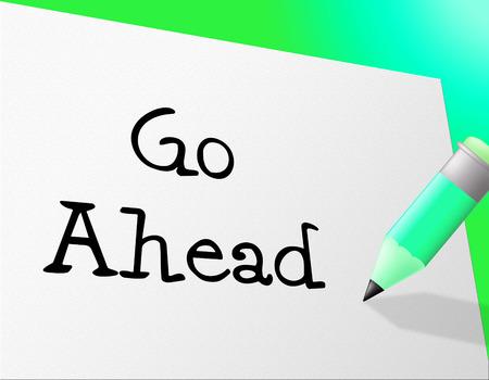 seguir adelante: Ir mensajes Ahead En representaci�n empezar y