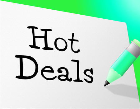 closeout: Hot Deals Showing Discount Clearance And Closeout Stock Photo