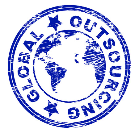 independent contractor: Global Outsourcing Indicating Independent Contractor And Planet