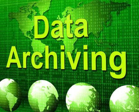 data archiving: Data Archiving Representing Filling Paperwork And Catalouing