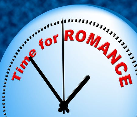 just in time: Time For Romance Representing Just Now And Fondness Stock Photo