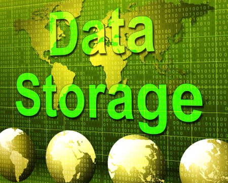 hard drive: Data Storage Indicating Hard Drive And Storehouse