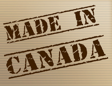 Made In Canada Indicating Industrial Manufacture And Commercial photo