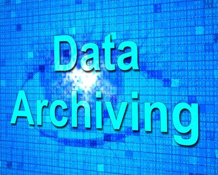 data archiving: Data Archiving Representing Cataloguing Archives And Backup Stock Photo