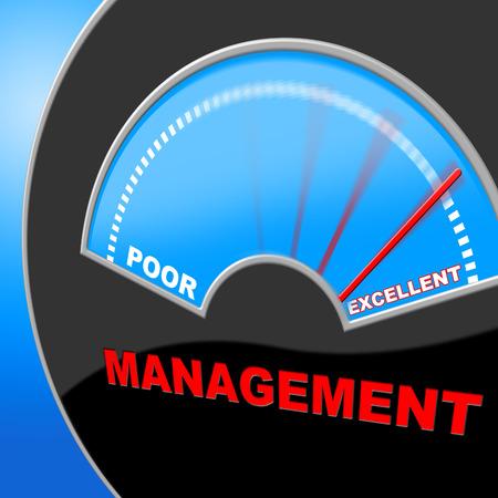 uitstekend: Uitstekende management aangeven Company Hoofd En Executive Stockfoto