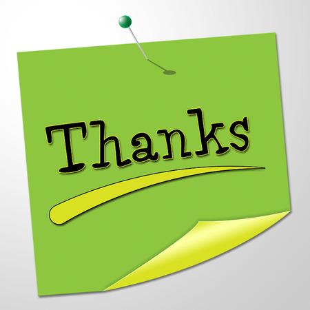 agradecimiento: Gracias mensaje indicando Correspondencia Nota And You