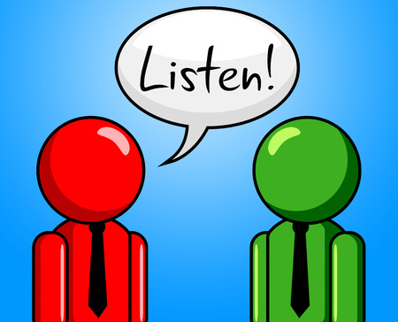 chit chat: Listen Conversation Meaning Hear Me And Listens