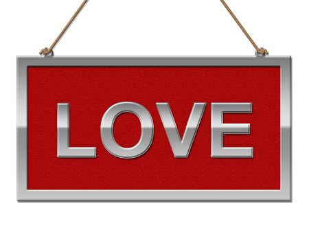 with fondness: Love Sign Representing Fondness Romance And Boyfriend