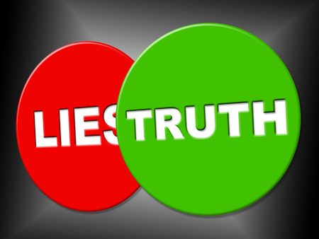 verifiable: Truth Sign Representing No Lie And Sincerity