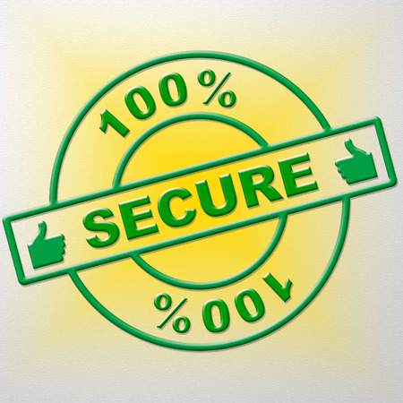 completely: Hundred Percent Secure Meaning Unauthorized Secured And Completely