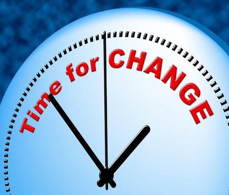reforming: Tiempo para el cambio representaci�n en la actualidad y la actualidad Foto de archivo