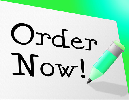 booked: Order Now Representing At This Time And Now Stock Photo