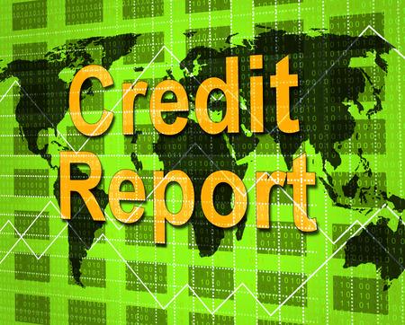 credit report: Credit Report Representing Debit Card And Analysis