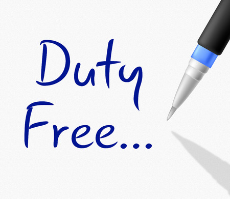 freebie: Duty Free Showing With Our Compliments And Gratis Stock Photo