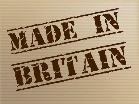 Made In Britain Showing Export Commercial And Manufactured photo