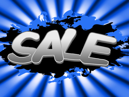 closeout: Sale Sign Representing Closeout Promotion And Sales