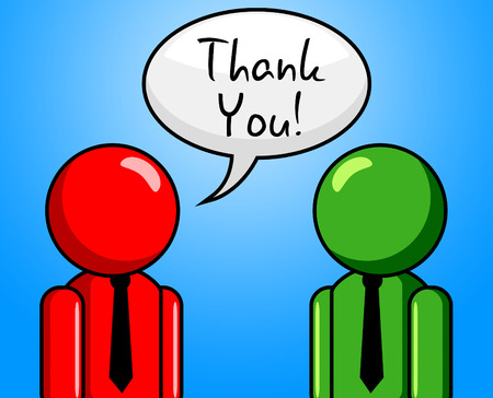 many thanks: Thank You Indicating Many Thanks And Thankful Stock Photo