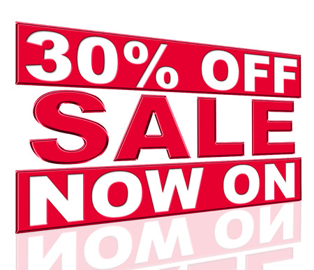 thirty percent off: Thirty Percent Off Meaning At The Moment And Promo Stock Photo