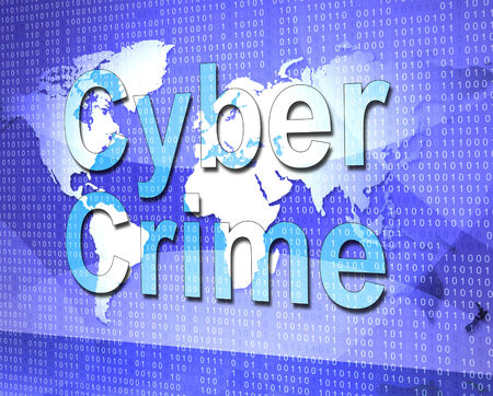 Cyber Crime Indicating World Wide Web And Unlawful Act Stock Photo