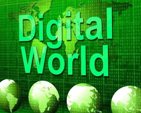 tec: Digital World Indicating High Tec And Globalization