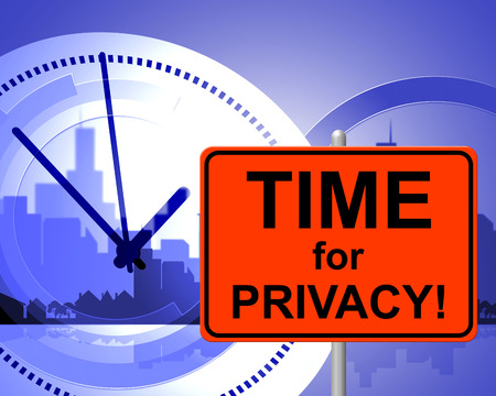 presently: Time For Privacy Indicating At The Moment And Now Stock Photo