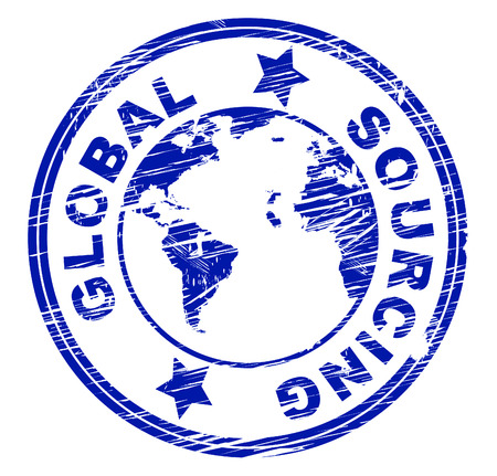 グローバル ソーシング代表の世界的供給し、供給 写真素材