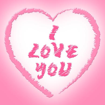 compassionate: I Love You Representing Fondness Compassionate And Passion Stock Photo