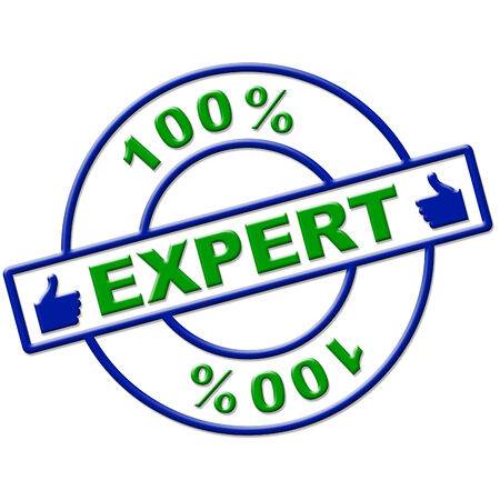 proficiency: Hundred Percent Expert Representing Proficiency Training And Expertise