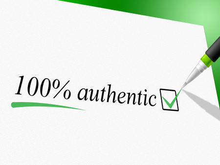 attest: Hundred Percent Authentic Showing Genuine Article And Completely