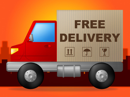 compliments: Free Delivery Indicating With Our Compliments And No Cost