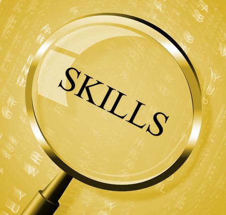 aptitude: Skills Magnifier Indicating Aptitude Magnify And Aptitudes