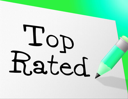 rated: Top Rated Showing Number One And First Stock Photo