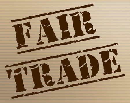 producer: Fair Trade Representing Stamp Producer And Fairtrade Stock Photo