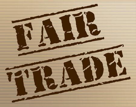 fairtrade: Fair Trade Representing Stamp Producer And Fairtrade Stock Photo