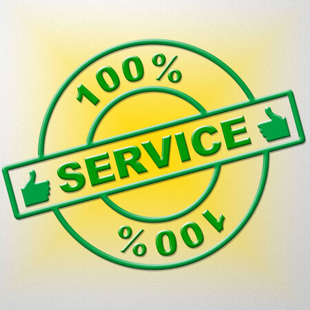 service desk: Hundred Percent Service Representing Help Desk And Advice
