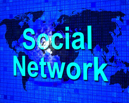 network marketing: Social Media Representing Network Marketing And Global