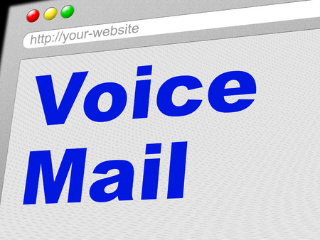 voicemail: Voice Mail Indicating Answering Machine And Send