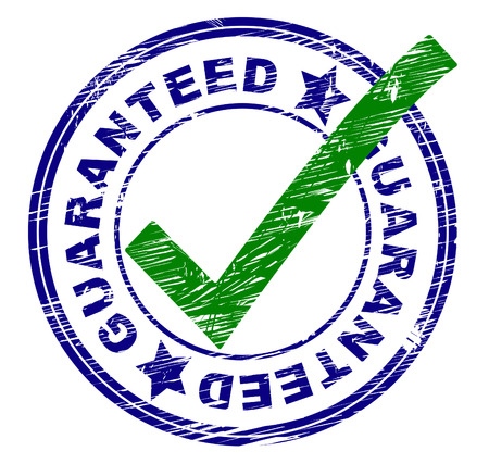 to ensure: Guaranteed Stamp Indicating Ok Imprint And Verified