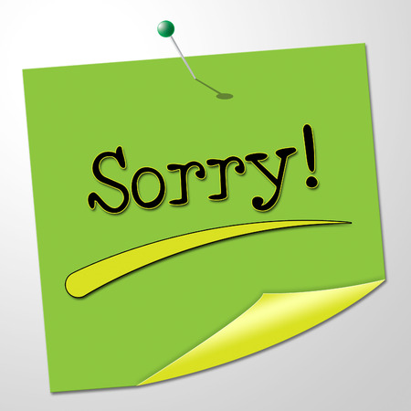 apologise: Sorry Message Showing Messages Remorse And Communication